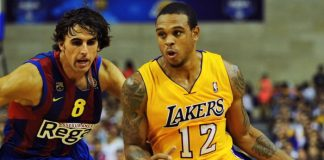 Arrestan a Brown, ex base de los Lakers, por disparar contra dos personas